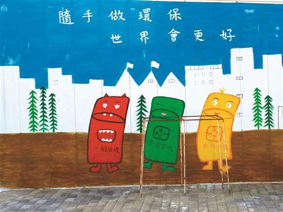 环保涂鸦墙