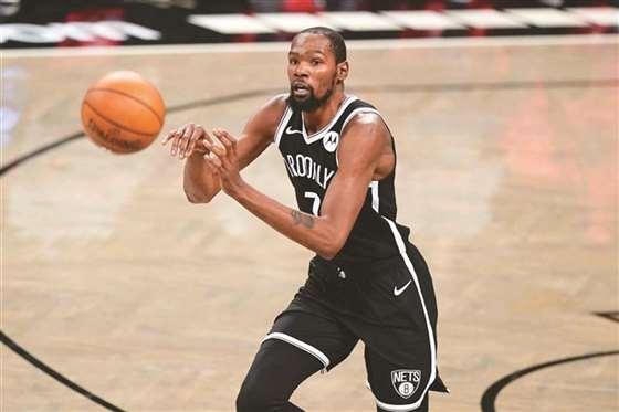 NBA篮网季后赛首胜 杜兰特拿32分